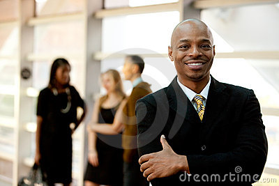 Happy Black Businessman