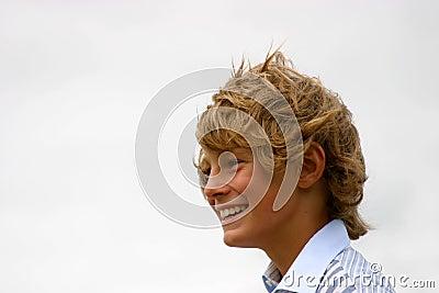 Happy blond boy