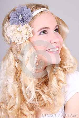 Free Happy Blonde Girl With Headbands Stock Photo - 25230250