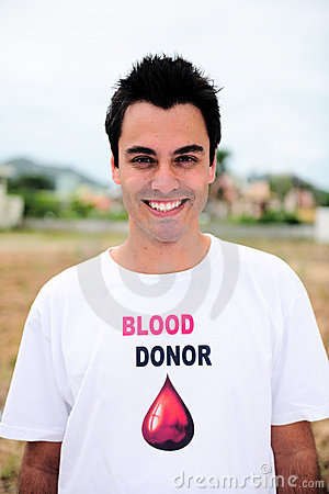 Happy blood donar smiling