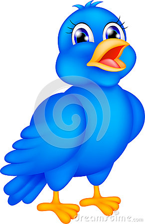 Free Happy Blue Bird Stock Photo - 28312880