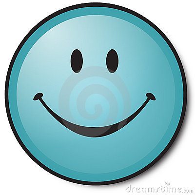 Free Happy Blue Smiley Face Stock Photos - 6033713