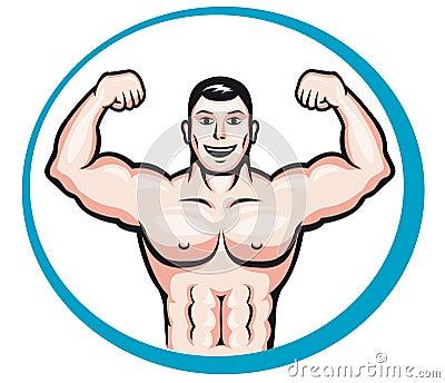Happy bodybuilder