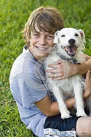 Happy Boy and his dog