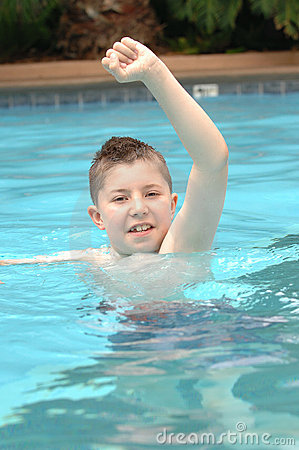 Free Happy Boy In Pool Stock Images - 2931804