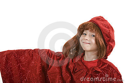 Happy boy in medieval dress