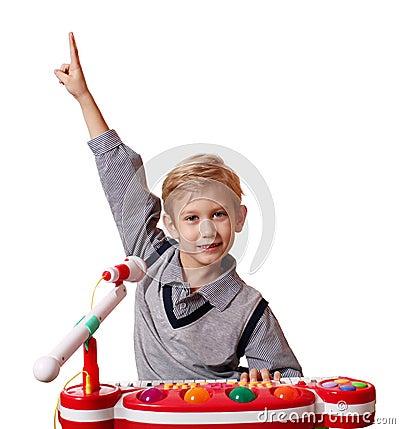 Free Happy Boy Play Music Royalty Free Stock Image - 22817436