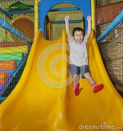 Happy boy on playground