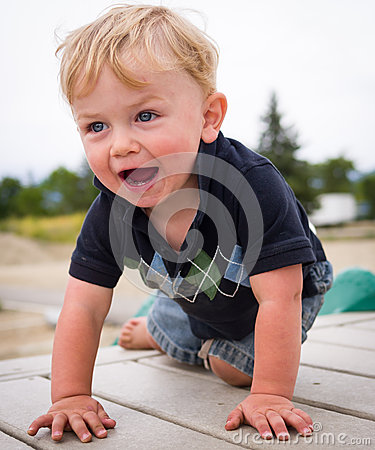 Happy boy at playground