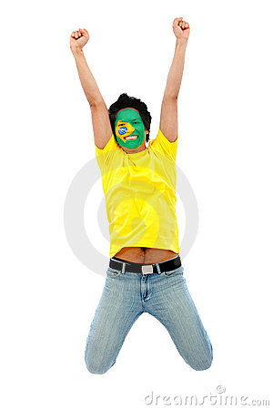 Happy brazilian fan