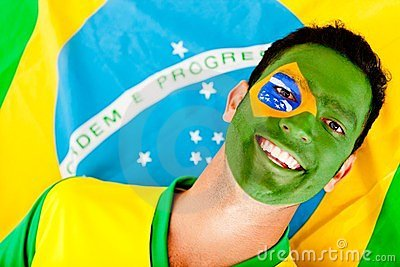 Happy Brazilian man