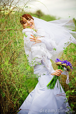 Free Happy Bride Royalty Free Stock Photo - 7267305
