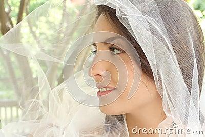 Happy Bride: Girl with Veil