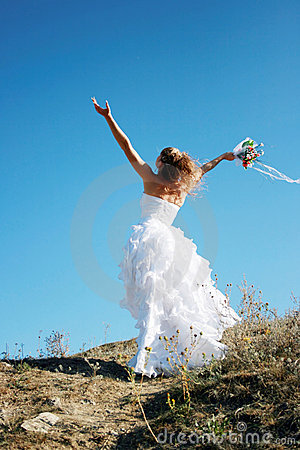Free Happy Bride Meeting New Life Royalty Free Stock Photography - 13103927