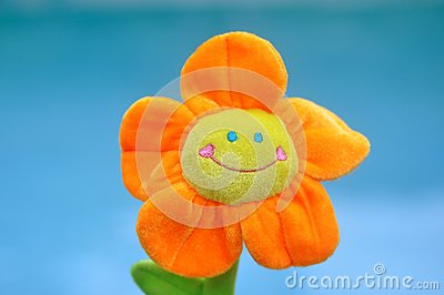Happy Bright Orange Toy Flower