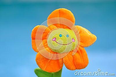 Happy Bright Orange Toy Flower