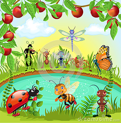 Free Happy Bugs World Royalty Free Stock Photo - 36756775