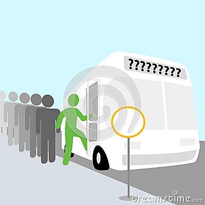 Happy Bus Trip People