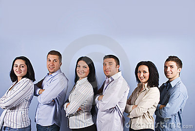 Happy business group with smiling people