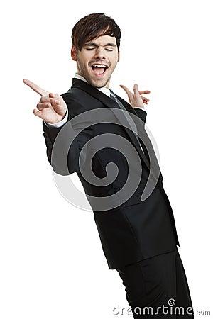 Happy business man