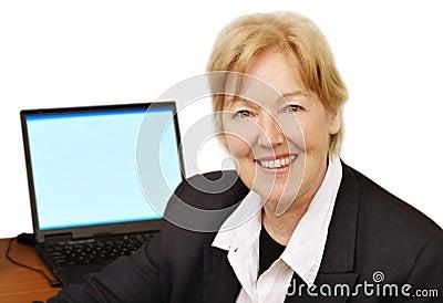 Happy business woman III