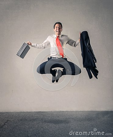 Free Happy Businessman Jumping Royalty Free Stock Photo - 89663405