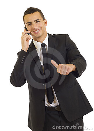 Free Happy Businessman Showing Thumb Up Royalty Free Stock Photo - 11619635