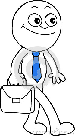 Happy Businessman Walking