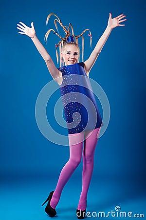 Happy carnival girl