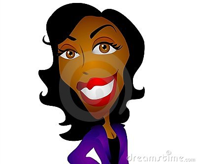 Happy Cartoon Black Woman