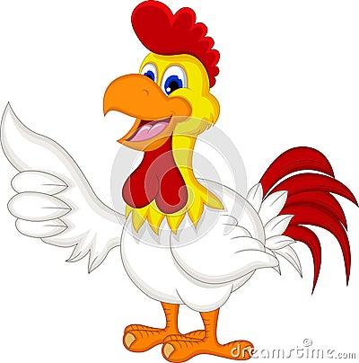happy cartoon chicken thumb up royalty free stock photos