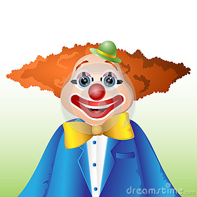Happy cartoon clown
