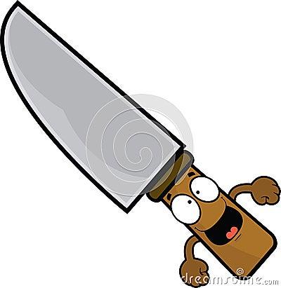 stock illustration happy cartoon knife illustration expression image