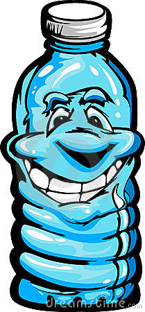 Happy Cartoon Plastic Water Bottle Illustration Stock Images - Image: 23892754