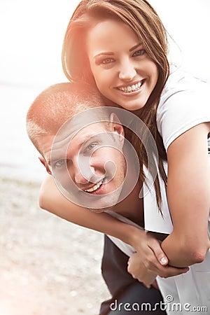 Happy caucasian couple