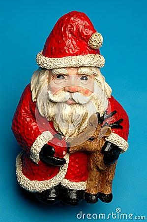 Happy ceramic santa