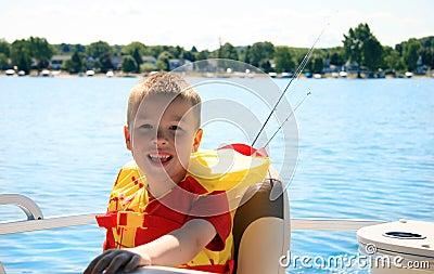 Happy Child on Boat