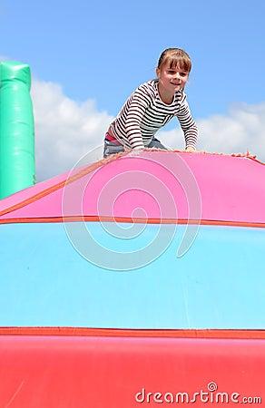 Happy child girl outdoor
