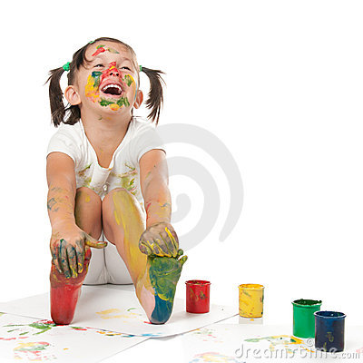 Free Happy Child Painting Stock Image - 17868301