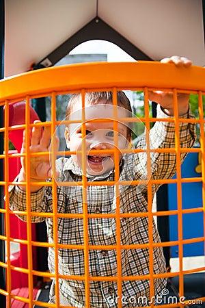 Happy child in playground