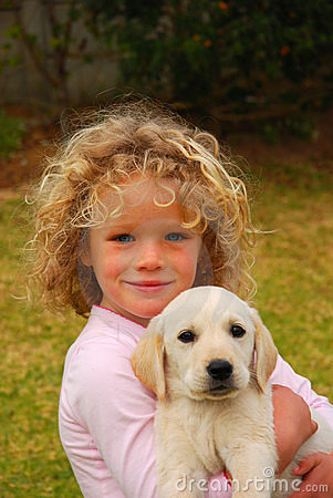 Free Happy Child With Puppy Pet Royalty Free Stock Photography - 6848837
