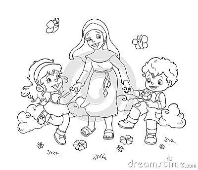 Happy children - BW