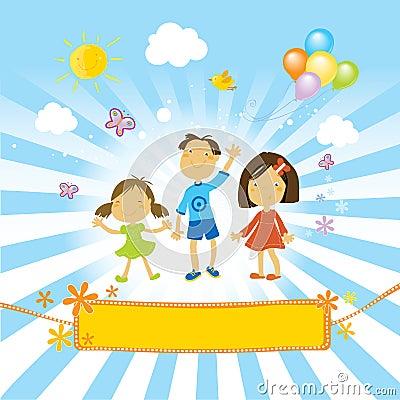 Free Happy Children Celebrating Royalty Free Stock Photos - 4585218