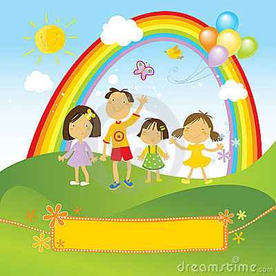 Free Happy Children Celebrating Royalty Free Stock Photo - 4611185
