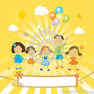 Free Happy Children Celebrating Royalty Free Stock Photo - 4651855