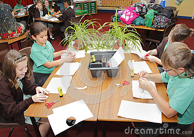 School children in classroom  Editorial Stock Photo
