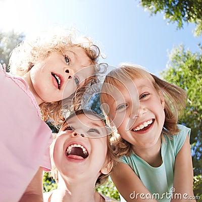 Free Happy Children Having Fun Royalty Free Stock Photo - 23054545
