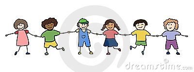 Happy Children Holding For Hands Stock Photo - Image: 20925910