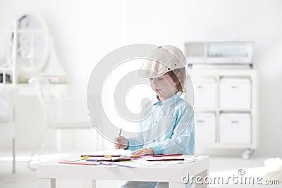 Children paint