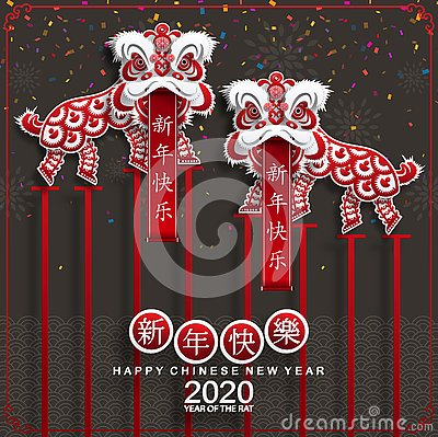 Free Happy Chinese New Year 2020 Year Of The Rat. Royalty Free Stock Image - 153028516